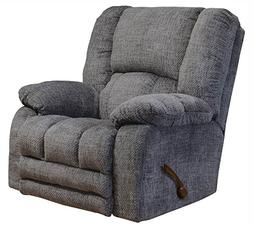 Catnapper Rocker Recliner with Extended Ottoman in Pewter