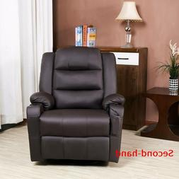 Secondhand Leather Recliner for Bedroom Living Room w Heatin