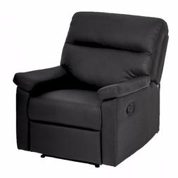Single Recliner Chair Sofa Furniture Modern Leather Chaise C