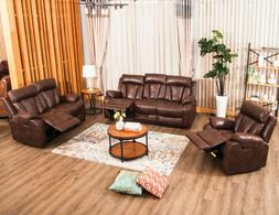Sofa Set Loveseat Couch Recliner PU Leather Seat Living Room