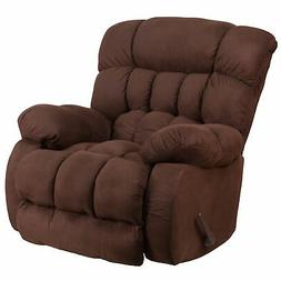 Softsuede Rocker Recliner, Fudge