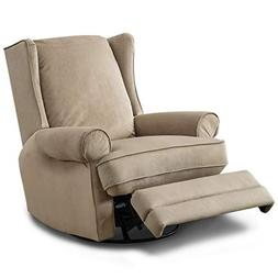 BONZY Swivel Glider Recliner Chair Nursery Elderly Sofa Over