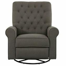 Beaumont Lane Traditional Swivel Glider Recliner in Pewter