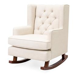Best Choice Products Tufted Upholstered Wingback Rocking Acc