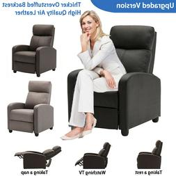 Upgraded Padded Air Leather Wingback Recliner Chair Modern s