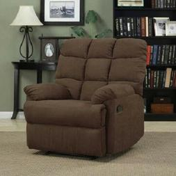 Wall Hugger Recliner Chair Brown Oversized Living Room Furni