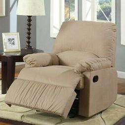 Wellton Microfiber Recliner in Light Brown