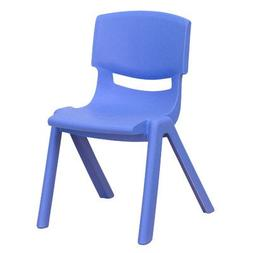 Flash Furniture Blue Plastic Stackable School Chair with 13.